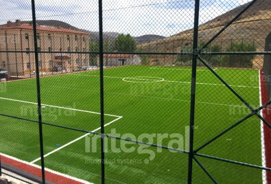 Outdoor Artificial Turf Football Pitch Application