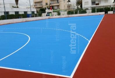 Acrylic Sports Field Application