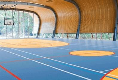 Indoor Basketball Court Floor Application