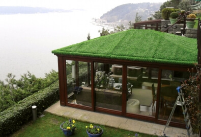 Grass Fence Roofing Application