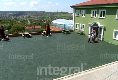 School Terrace Rubber Floor Application