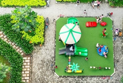 Playground Artificial Turf Application