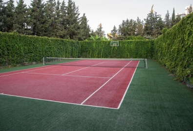 Tennis Court Artificial Turf Application